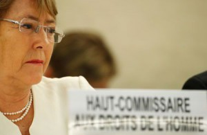 New United Nations High Commissioner for Human Rights Michelle Bachelet attends the Human Rights Council at the United Nations in Geneva, Switzerland, September 10, 2018. (Reuters)