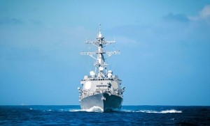 The destroyer William P. Lawrence underway in the Pacific. The U.S. Navy is looking to upgrade all the Flight IIA destroyers with Spy-6-type radars, a major capability increase over the Spy-1D radars currently installed. (U.S. Navy)