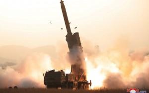 North Korea staged its last missile test on October 31 (Reuters).