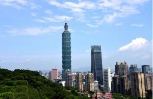 Photo taken on July 21, 2019 from Xiangshan Mountain shows the Taipei 101 skyscraper in Taipei, southeast China's Taiwan. (Xinhua/Zhu Xiang)