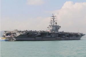 U.S. Navy aircraft carrier USS Ronald Reagan is seen during its visit to Hong Kong, China November 21, 2018. (Reuters)