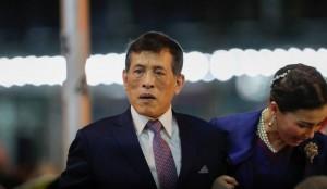 Thailand's King Maha Vajiralongkorn and Queen Suthida inaugurate a new subway station in Bangkok (Reuters)